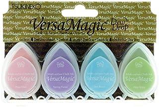 Tsukineko VersaMagic - Juego de 4 tampones de Tinta en Colores Pastel