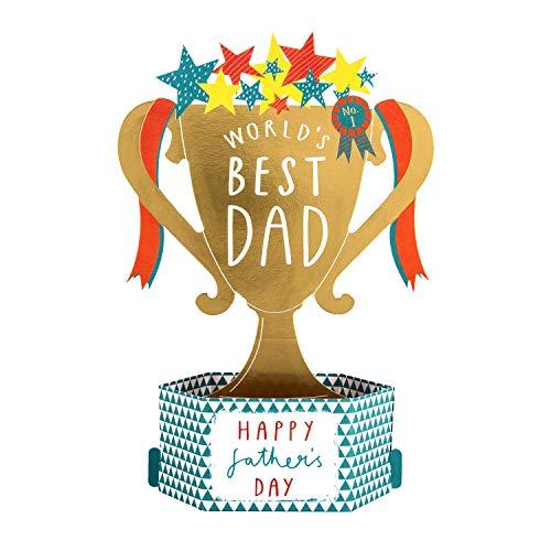 Hallmark - Tarjeta de felicitación para el día del padre para papá, diseño de trofeo