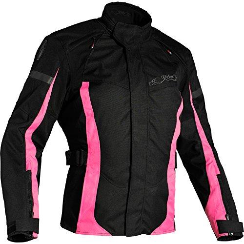 Richa Biarritz - Chaqueta impermeable para mujer, color negro y rosa