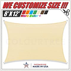 ★【VIRGIN, UV STABLIZED COMPOUND & THICK MATERIAL】: The only sun shade sail on the market that are made of 190 GSM 100% virgin (Non-recycled) HDPE material. Our virgin HDPE fabric went through 20000 hours of laboratory UV testing and it is proved to b...