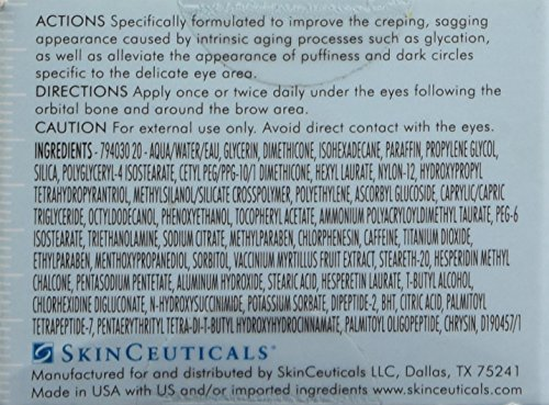 51i1F3Xe0dL - SkinCeuticals A.G.E. Eye Complex 0.5 oz Moisturizing Anti Aging Eye Cream with Vitamin E Helps Reduces Dark Circles, Puffiness and Crow's Feet