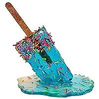 夏のクールなアイスキャストのために使用される創造的なアイスクリームモデルの装飾、樹脂工芸品の溶け、樹脂工芸品,C