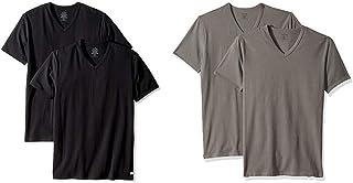 Calvin Klein Men's Undershirts Cotton Stretch 2 Pack V Neck Tshirts
