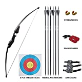 D&Q Archery Takedown Recurve Bow and Arrow Set 35 lbs Right Hand Longbow Kit for Adult Beginner Outdoor Hunting Shooting Training