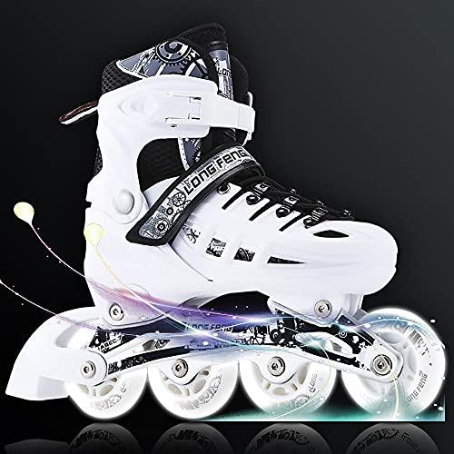 DODOBD Inline Skates Damen/Herren/Kinder, Rollerblades für Jungen Mädchen Jugendliche Erwachsene Anfänger, Kugellager ABEC-7 Carbon, PU Rolle 82 A,Rollschuhe für Outdoor und Indoor
