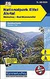 Outdoorkarte 19 Nationalpark Eifel - Ahrtal 1 : 35.000: Wandern, Rad. Monschau, Bad Münstereifel