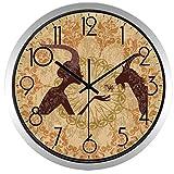 Reloj de Pared Reloj De Pared Retro DeCabra EuropeaSala De Estar Reloj Vintage 14 Pulgadas B339S