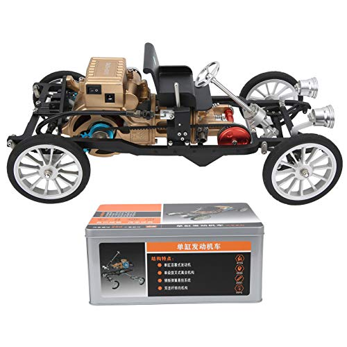TECHING, kit de construcción de coche de un solo cilindro, montaje de maquinaria de metal, modelo de juguete DM26