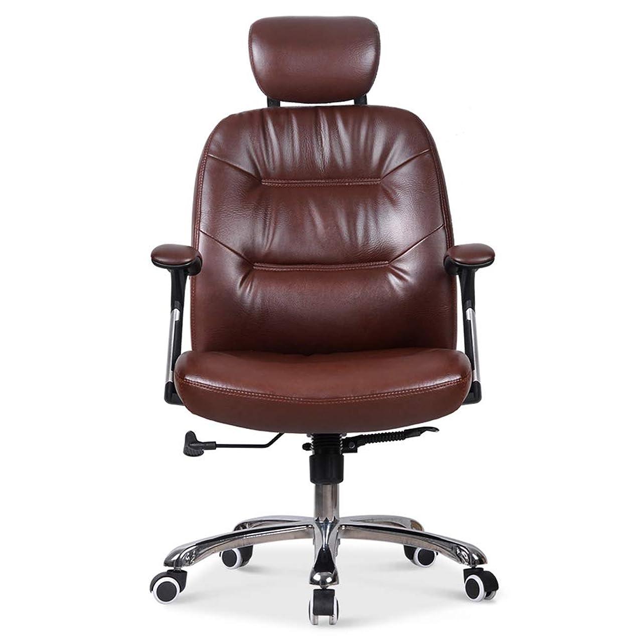 スペースプレゼンテーションバウンスデスクチェア パソコンチェア 事務用椅子 ミッドバックフェイクレザーコンピュータエグゼクティブオフィスチェア、モダン&人間工学に基づいたデザイン、調節可能なシートの高さ、傾斜機構、360度の回転 人間工学 自宅用 オフィス