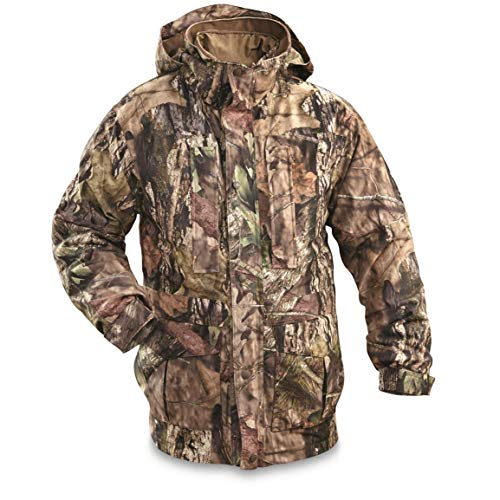 Guide Gear Steadfast 4-in-1 Hunting Parka, 150 Gram Thinsulate Platinum with X-Static, Waterproof, Mossy Oak Break-Up Country, XL