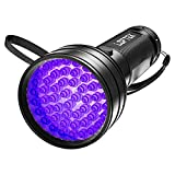 LOFTEK UV Flashlight Black Light, 51 LED 395 nM Flashlight Perfect Detector for Pet Urine and Dry Stains, Handheld Blacklight for Scorpion Hunting
