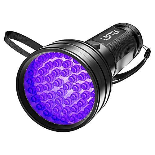 LOFTEK UV Flashlight Black Light, 51 LED 395 nM Flashlight Perfect Detector for Pet Urine and Dry Stains, Handheld Blacklight for Scorpion Hunting