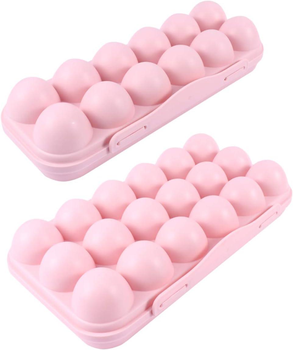 New life DOITOOL 2PCS Plastic Egg Holder for Refrigerator 70% OFF Outlet Tra Deviled