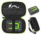 CaseSack case for ZOLEO Satellite Communicator, Black with Green Zip to Match ZOLEO, mesh Accessory Pocket