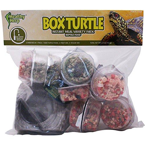 Instant Meal Box Turtle Food Variety Pack (7 x Box Turtle Food, 4 x Fruit Mix, 3 x Vegi Mix, and 1 X Feeding Dish)