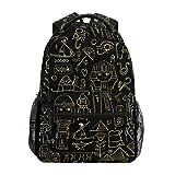 Mochila escolar Ahomy para adolescentes y niñas y niños, mochila de viaje con personaje egipcio antiguo Egipto