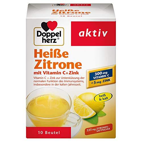 Doppelherz Heiße Zitrone – Vitamin C und Zink zur Unterstützung der normalen Funktion des Immunsystems – 10 Beutel
