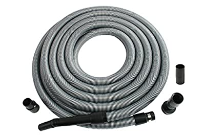 Cen-Tec Systems 50 Foot Extension Hose for Shop and Garage Vacuums, Ft, Silver