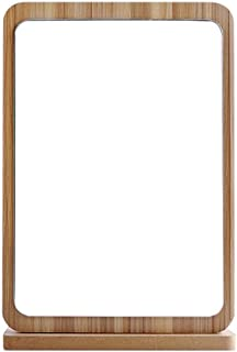 AINIYF Desktop Vanity Mirror with Foldable Design Cosmetic Mirror with Stand Elegant Tabletop Mirror (Color : B, Size : XL)