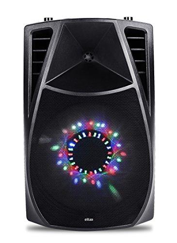Eltax Voyager BT 350W Negro Altavoz - Altavoces (De 1 vía, 1.0 Canales, Inalámbrico y alámbrico, 3.5mm/USB/Bluetooth, 350 W, Negro)