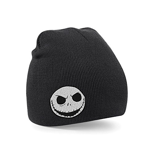 The Nightmare Before Christmas Bonnet Jack Skull noir