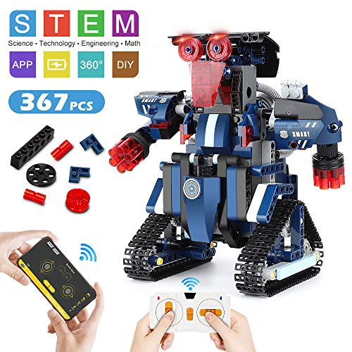 Building Robot,STEM Robot Toys for Kids, Building Toys RC Robot Toys Construction Engineering...