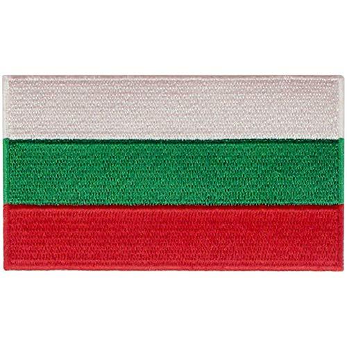 EmbTao Bulgarien Flagge Bestickter Aufnäher zum Aufbügeln/Annähen