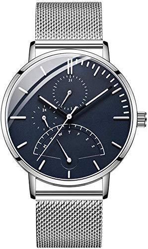 LLDKA herenhorloge, kwarts, 24 uur, nachtlampje, blauw