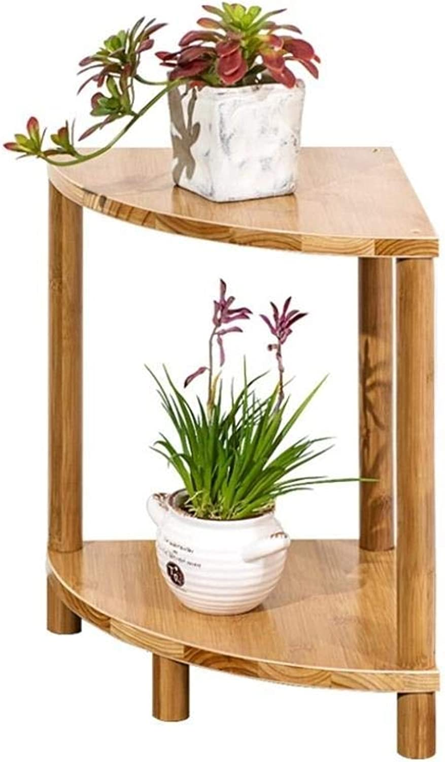 Flower Stand-Bamboo Vine Floor-Standing Multi-Layer Fan-Shaped Plant Flower Pot Display Rack Storage Rack, Suitable for Flower Shop Living Room Balcony (color   S)