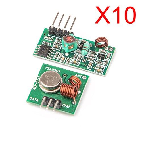 DAOKI 10PCS 433Mhz WL RF Transmitter + Receiver Module Link Kit for Arduino/ARM/MCU Wireless