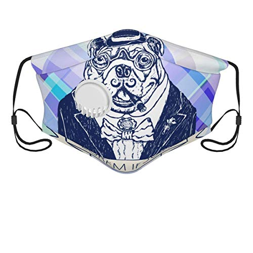 xiaoxian French Bulldog in Pink Tie Neck Bandanas Breathable Balaclavas For Running Cycling Camping