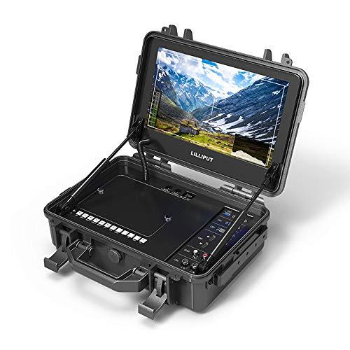 LILLIPUT BM120-4KS 12.5 pulgadas 4K resolución 4K HDMI 60Hz entrada 3G-SDI salida SDR HDR 3D-LUT Broadcast Director Monitor con maleta