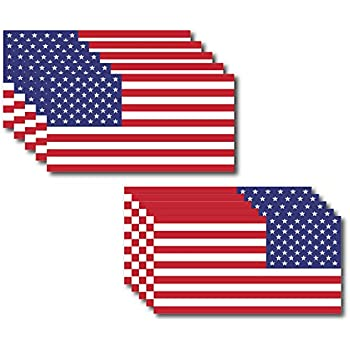 - Patriotic Stars Reflective Stripe USA Flag Car Stickers Support US Military Anley 5 X 3 American US Flag Decal 4Pcs 4 Pack Set 2 Forward /& 2 Reversed
