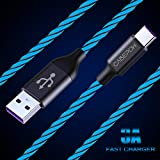 2Pack LED USB C Cable 6ft, CABEPOW 360° Visible EL Flowing Light Charging Cable, 6ft LED Lighted Up Glowing USB Type C Cable Cord for Samsung Galaxy S9 S8 Plus Note 9 8,Pixel,LG V30, Google Nintendo