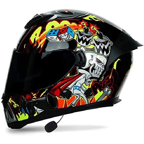 Casco de Moto Modular Bluetooth Integrado con Doble Anti Niebla Visera Cascos de Motocicleta ECE Homologado a Prueba de Viento para Adultos Hombres Mujeres E,M