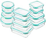 Bayco Glass Food Storage Containers with Lids, [24 Piece] Glass Meal...