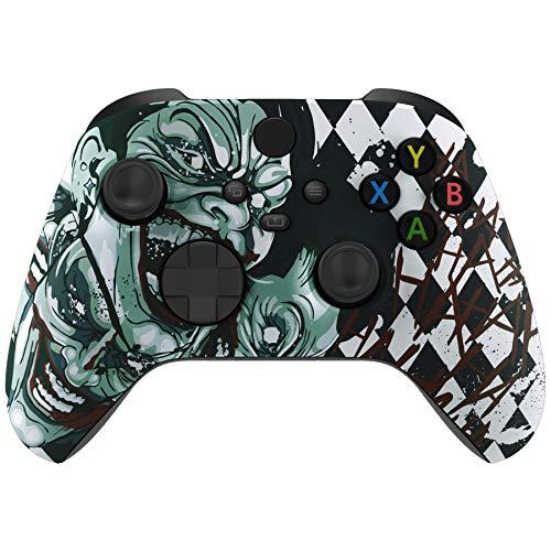 eXtremeRate Hülle für Xbox Series X,Case Gehäuse Hülle Schale Skin Shell Zubehör Set für Xbox Series X & S Controller(Joker)-Controller Nicht im Lieferumfang enthalten