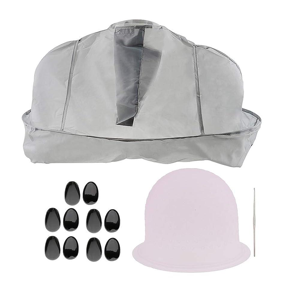 主導権シングルシャイF Fityle ヘアティントキャップ メタルフック 美容ケープ 髪染め耳カバー サロン