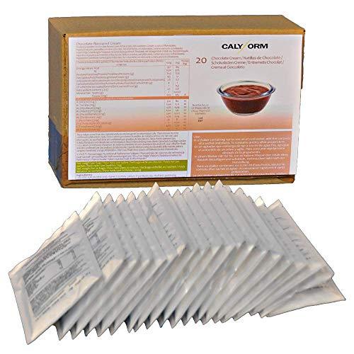 CALYFORM Natillas proteicas para dieta sabor Chocolate | Proteína en polvo para preparar natillas de calidad y aporte en aminoácidos esenciales (20 sobres)