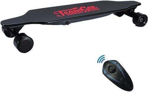 HBMX Planche à roulettes électrique avec télécomhommede, Longboard électrique à Fibre Multicouche en érable, Planche à roulettes à Moteur Double, Max voyage 15KM 30km   h Vitesse maximale