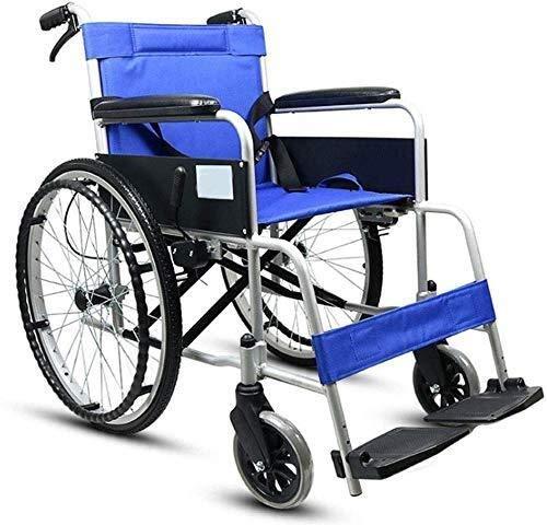 XUSHEN-HU Silla de ruedas manual de la aleación de aluminio de las sillas de ruedas, peso ligero inflable libre de la carretilla de la silla de ruedas de los ancianos