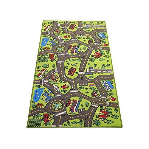 Extra Large 6.6 Feet Long! Kids Carpet Playmat Rug | City Life, Great To Play with Cars & Toys - Have Fun! Safe, Learn, & Educational -Ideal Gift For Children Baby Bedroom Play Room Game Play Mat Rugs
