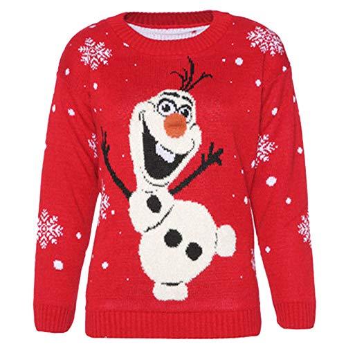 Maglione Natale Unisex di Olaf Frozen Maglione di Natale Unisex