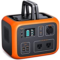 TACKLIFE Power Station 300W/500Wh Portable Outdoor Solar Generator,