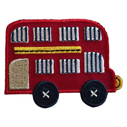 TrickyBoo 2 opstrijkbare dubbele bus, 8 x 6 cm, bij 9 x 8 cm, set applicaties, voor het repareren van kinderkleding met design Zürich Zwitserland voor Duitsland en Oostenrijk