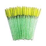 350 aplicador de barra de rímel cepillo de pestañas desechable cepillo de maquillaje de belleza herramienta de extensión de pestañas - verde