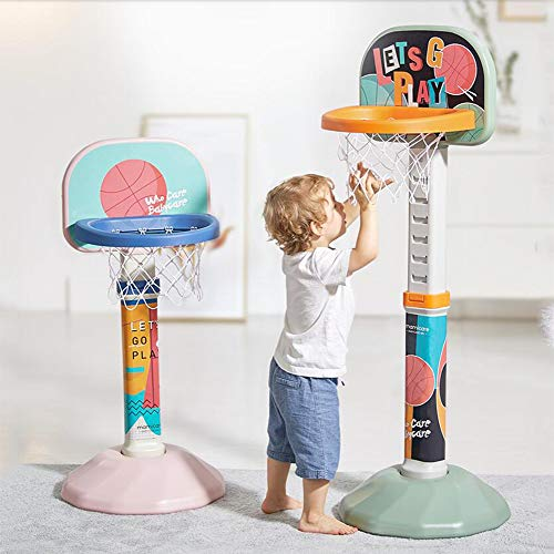 Lowest Price! FANGX Kids Basketball Stand,Basketball Hoop Outdoor Indoor Lifting Basketball Box for ...