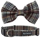 Collar Gato Perro Mascota con Pajarita de Cuadros, Collares de Pajarita de Tela Escocesa duraderos y cómodos para Gato Perro de la Corbata para Gatos Perros pequeños medianos Grandes en 3 Estilos