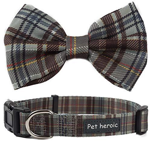 Pet Heroic Hundehalsband als Fliege - Anpassbares & Komfortables Hundeband - Small, Medium und Large - 3 Verschiedene Styles - Halsband für Katzen geeignet