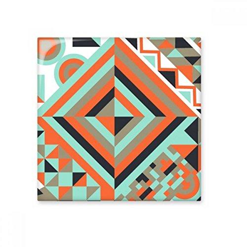 Groen Rood Zwart Ronde Ruit Abstract Geometrische Nordic Illustratie Patroon Keramische Bisque Tegels voor het verfraaien Badkamer Decor Keuken Keramische Tegels Wandtegels M